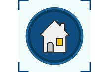 House color icon. Vector