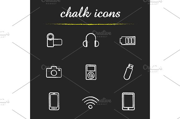 Gadgets. 9 icons. Vector - Icons