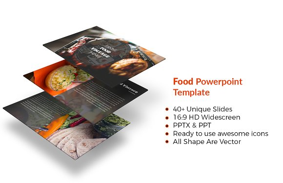 food vintage powerpoint template presentation templates creative