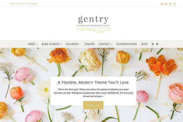Gentry Feminine WordPress Theme
