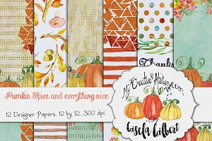 Thanksgiving Digital Paper.