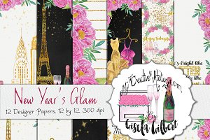 New Year's Glam Digital Paper
