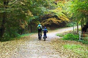 Fun day of biking with dad