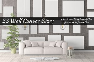 Canvas Mockups Vol 31