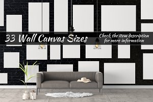 Canvas Mockups Vol 32