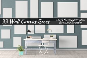 Canvas Mockups Vol 33