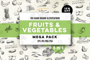 Mega pack. Fruits and vegetables.