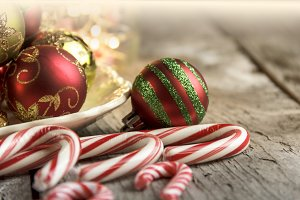 Candy Canes and Ornaments