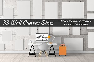 Canvas Mockups Vol 36