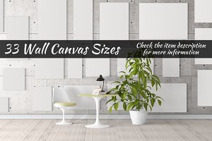 Canvas Mockups Vol 38