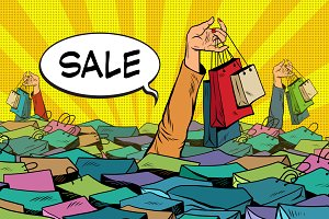sales, the ocean of shopping