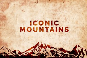 Iconic Mountain Vectors