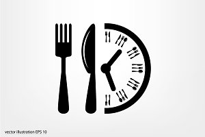 Fork Knife Clock