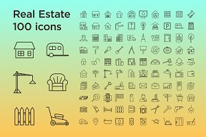 Real Estate 100 icons