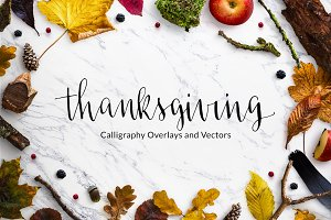 Thanksgiving Calligraphy Overlays