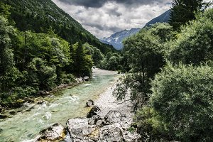 Smaragd River in the Mountains