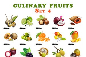 Culinary fruit set part 4
