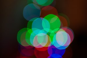 Christmas Tree Light Blur