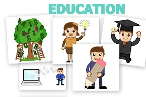 60+ Education Cartoons Characters