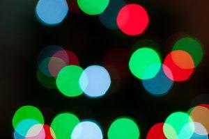 Colorful Christmas Tree Lights