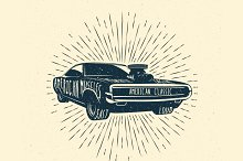American Muscle Car Badge