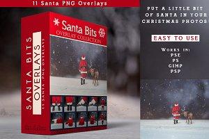 Santa PNG Overlays 11 - Santa Bits