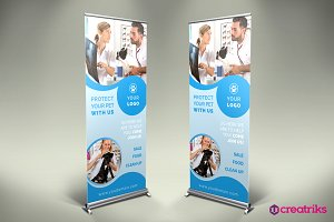 Pet Clinic Roll Up Banner - v051