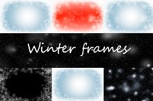 Snowflake and snow frames