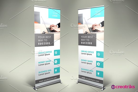 Business Roll Up Banner in Presentation Templates
