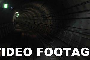 Shot of train goes underground