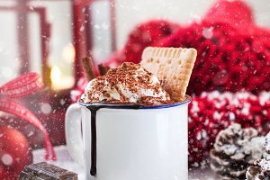 Christmas or winter food concept