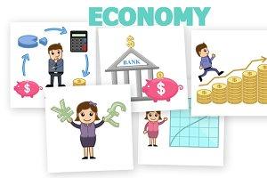 30+ Economy Concepts Cartoons