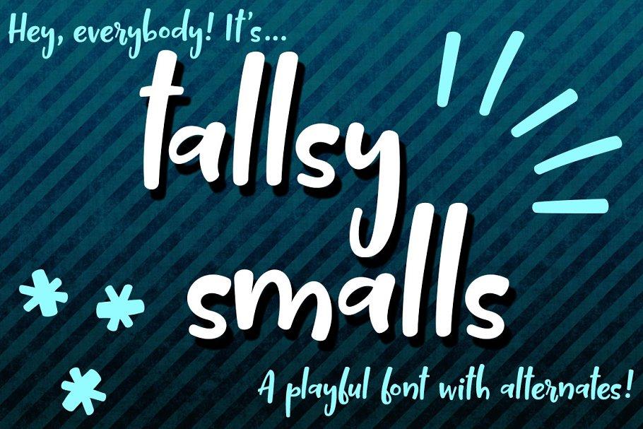 Tallsy Smalls: a fun little font
