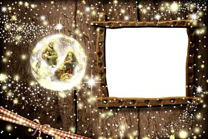 Christmas frame Nativity Scene