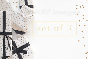 B&W Gift Boxes Design Elements 3