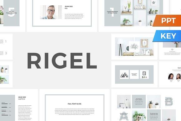 Rigel Presentation Template Presentation Templates Creative Market