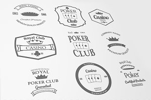 Casino and Poker Club Labels