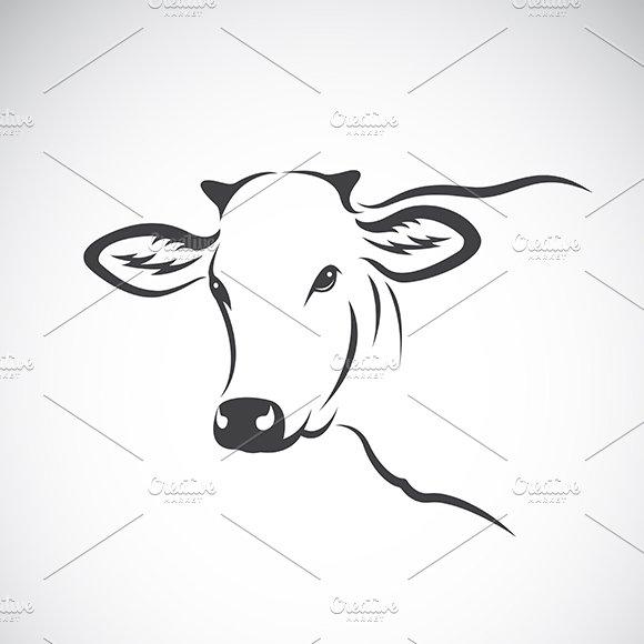 Vector image of a cow head design.