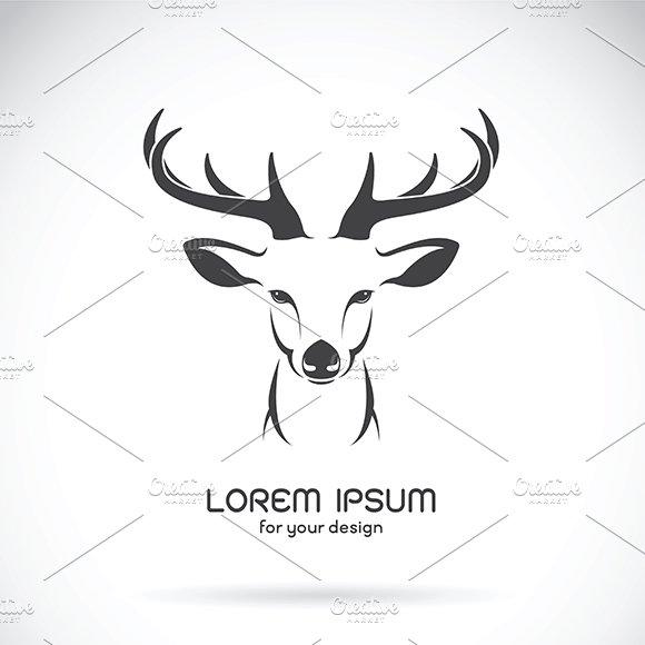 Vector image of a deer head design.