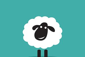 Vector image of a sheep design.
