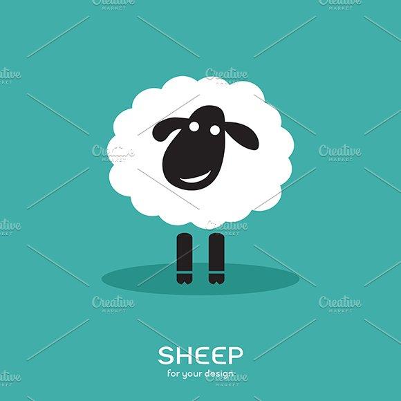 Vector image of a sheep design.