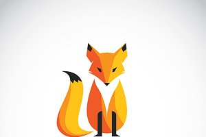 Vector image of a fox design.