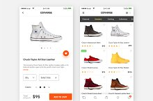 Converse product page model-sketch  by  in OpenCart