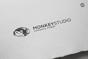 Monkey Studio Logo Template