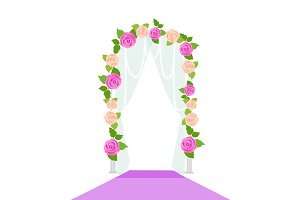 Wedding Arc Door with Flowers