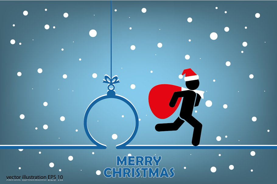 cbcdd2495fe70 Santa with gift bag ~ Icons ~ Creative Market