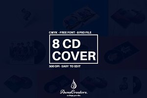 CD/DVD Album Cover Template