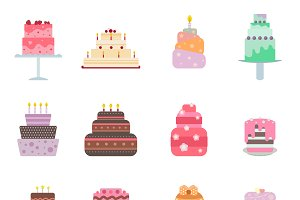Vector cake collection