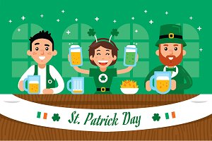 St. Patrick Day Illustration Clipart