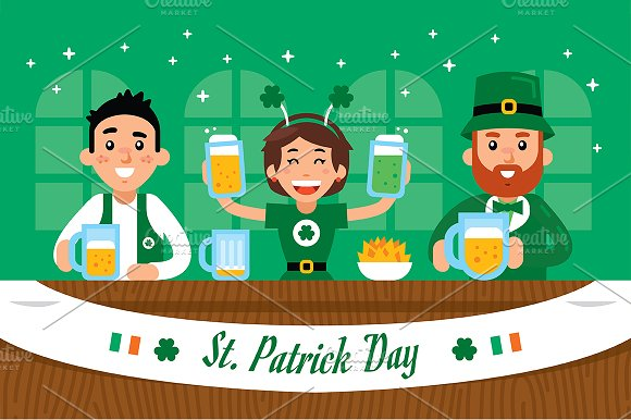 St. Patrick Day Illustration Clipart - Illustrations